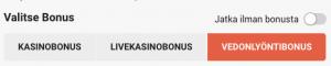 leovegas vedonlyönti bonus